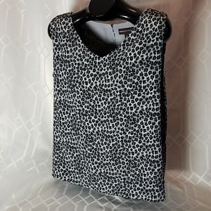 Dana Buchman gray sleeveless polyester top size XL